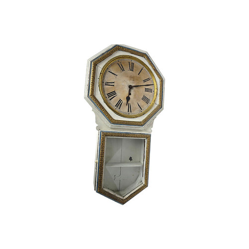 Antique Clock Wall Cabinet