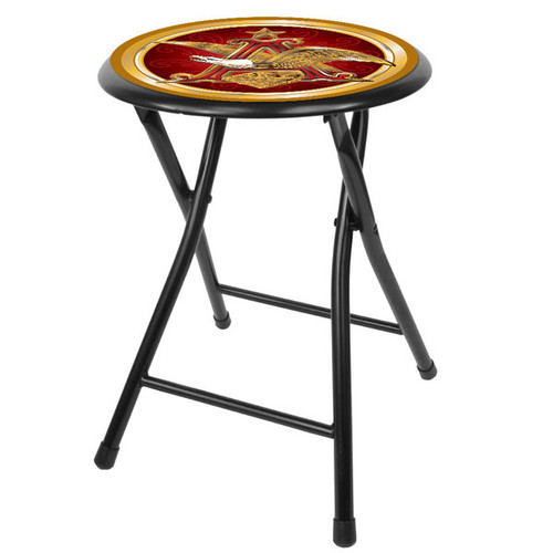 Budweiser Black 18-inch Folding Stool [option : Anheuser Busch A & Eagle 18in Folding Stool Black]