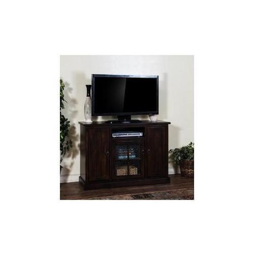 Sunny Designs 3474DC Santa Fe TV Console In Dark Chocolate - 78 Inch