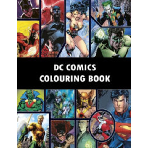 DC Comics Colouring Book: Comic, Comic strip, super heroes, hero, Vilains, The Flash, Wonderwoman, Lex Luthor, Present, Gift, Coloring, Thanksgiving, DC, Anime, Marvel, America, Liberty, USA
