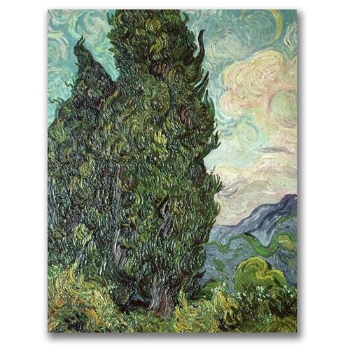 Vincent Van Gogh 'Cypresses,1889' Canvas Art