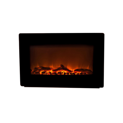 Wall Mounted Electric Fireplace - Black