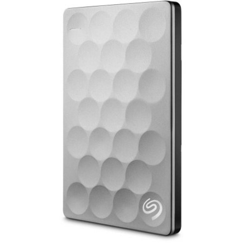 Seagate - Backup Plus Slim Ultra 2TB External USB 3.0 Portable Hard Drive - Platinum