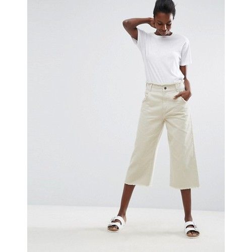 ASOS Cropped Wide Leg Pants with Raw Hem