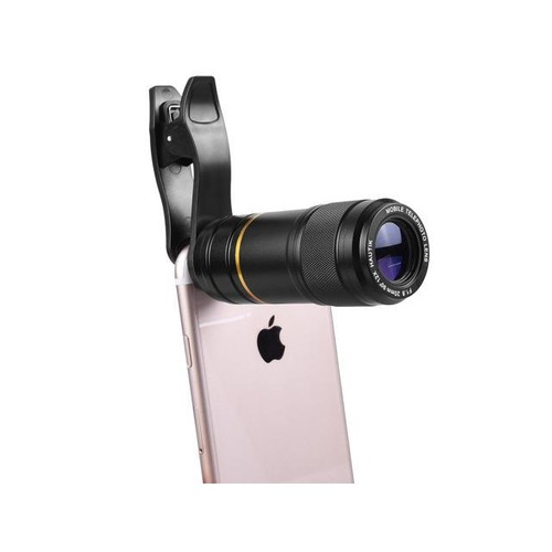 FUTURA High-definition Optical Zoom Mobile Phone Telescope 12X Telephoto Lens - Black