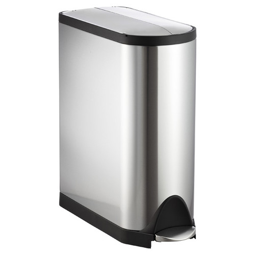simplehuman Stainless Steel 11.8 gal. Butterfly Step Trash Can