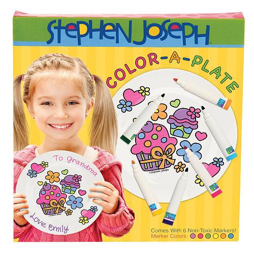 Stephen Joseph Color-a-Plate Craft Kit - Cupcake