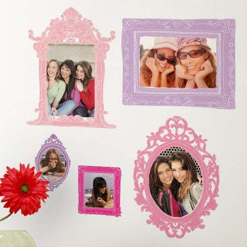 RoomMates RMK2043GM Pink and Purple Frames Peel and Stick Giant Wall Decals