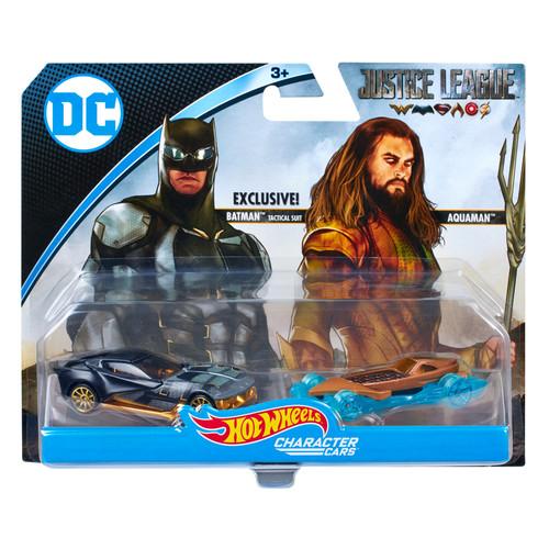 Hot Wheels DC Comics Justice League Action Figures - Aquaman and Batman Tactical Suit