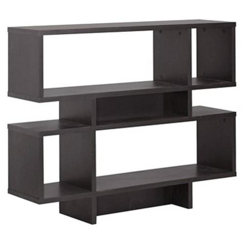 Cassidy 4 Level Modern Bookshelf Dark Brown - Baxton Studio
