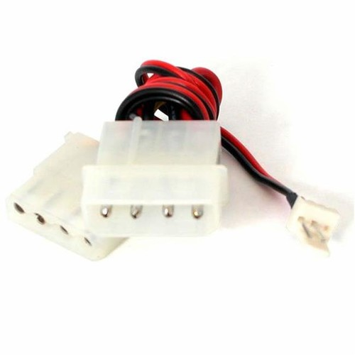 StarTech CPUFANADAPT 12 in. Fan Adapter - TX3 to 2x LP4 Power Y Splitter Cable