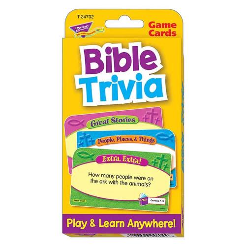 TREND ENTERPRISES INC. Games & Puzzles Bible Trivia Challenge Cards
