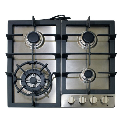 Magic Chef 24 in. Gas Cooktop in Stainless Steel with 4 Burners