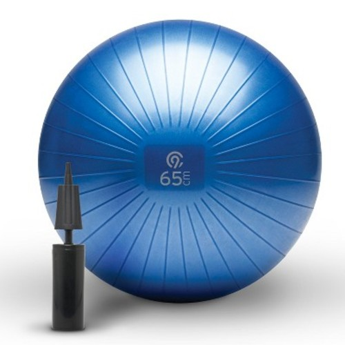 C9 Champion Exercise Ball with Pump - Blue (65cm)