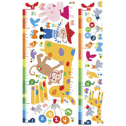 Lazoo Growth Chart Peel and Stick Wall Decals