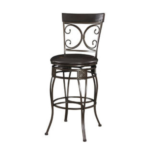 The Powell Company Big and Tall Back to Back Scroll Barstool