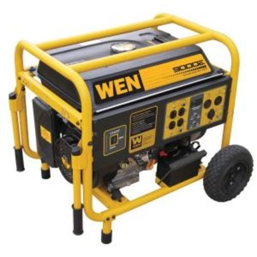 WEN 7000-Watt Gasoline Powered Portable Generator with Wheel Kit