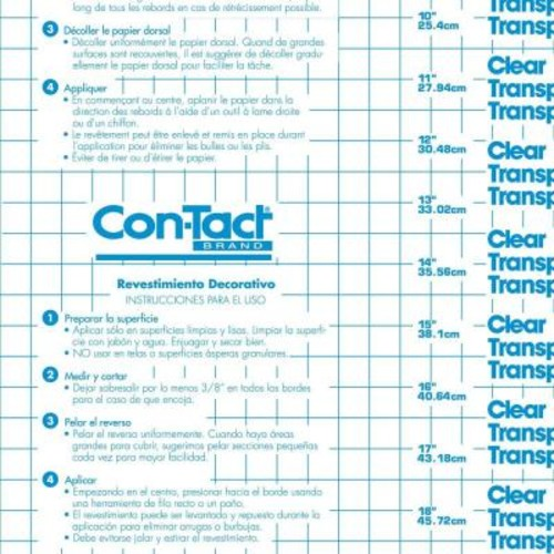 Con-Tact Clear Covering Clear Matte Adhesive Shelf Liner