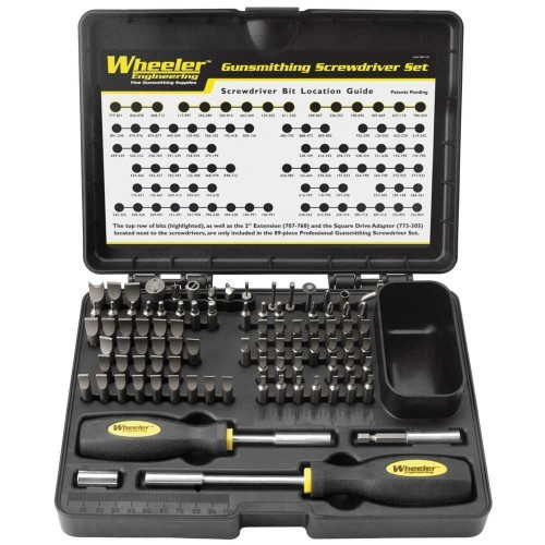 Wheeler 89-PC DELUXE GUNSMITHING SCREWDRIVER KIT