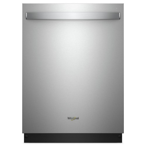 Whirlpool Top Control Built-In Tall Tub Dishwasher in Fingerprint Resistant Stainless Steel with Stainless Steel Tub