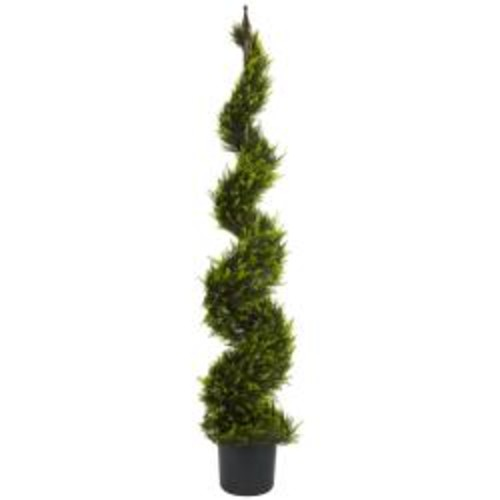 Nearly Natural Artificial Plants Cypress Spiral 5-foot Silk Tree
