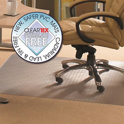 Cleartex Advantagemat Rectangular Chair Mat, PVC, 36