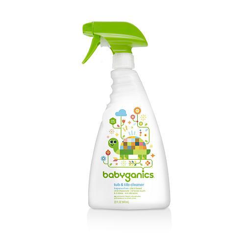 Babyganics Tub & Tile Cleaner- Fragrance Free- 32 Ounce Spray Bottle