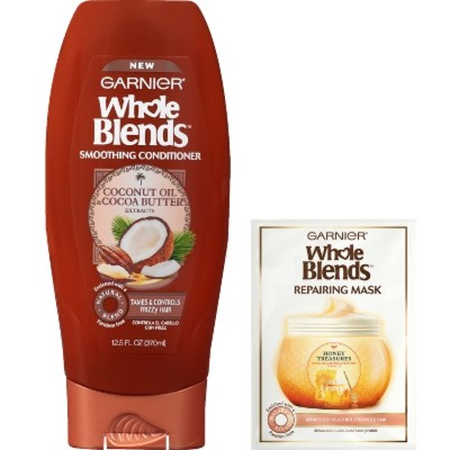 Garnier Whole Blends Smoothing Conditioner & Repairing Mask - 12.5 fl oz