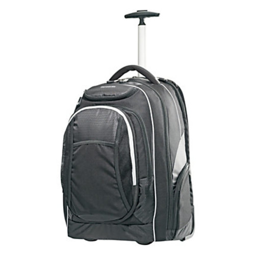 Samsonite Tectonic PFT Ripstop Nylon Wheeled Backpack, Black