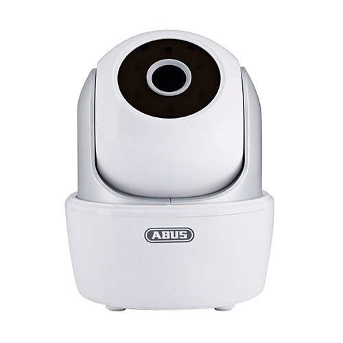 ABUS Wireless Security Camera - 720p, H.264, 350 Panning Range, 90 Tilting Range, MP CMOS Image Sensor, IR Range 5m, WiFi Enabled, Compatible App for iOS and Android - TVAC19000