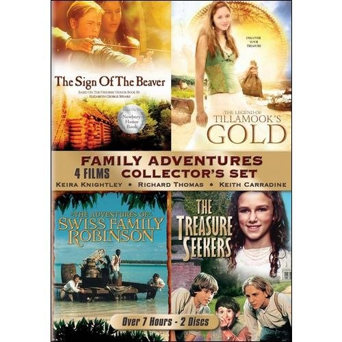 Family Adventures Collector's Set: (The Sign of the Beaver / The Legend of Tillamook's Gold / The Adventures of Swiss Family Robinson / The Treasure Seekers)
