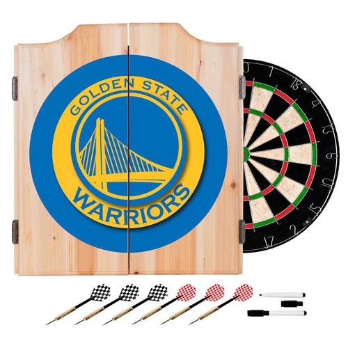 Golden State Warriors NBA Wood Dart Cabinet Set