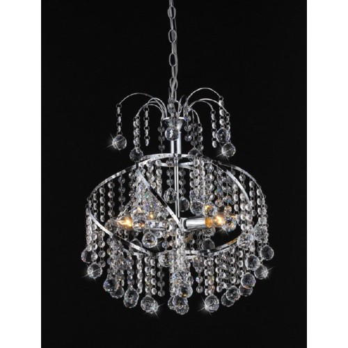 Warehouse of Tiffany Helen Crystal-Chrome Chandelier
