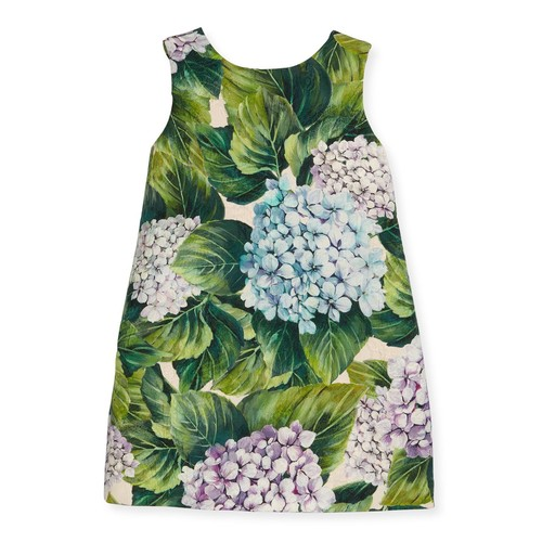 DOLCE & GABBANA Taormina Sleeveless Dress, Hydrangea, Size 8-12