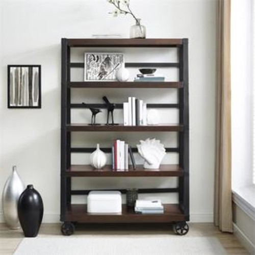 Ameriwood Home Altra Wade 4 Shelf Bookcase in Mahogany