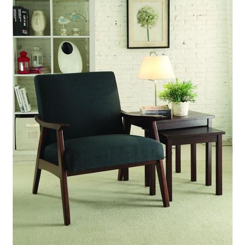AVE SIX Davis Klein Charcoal Fabric Arm Chair