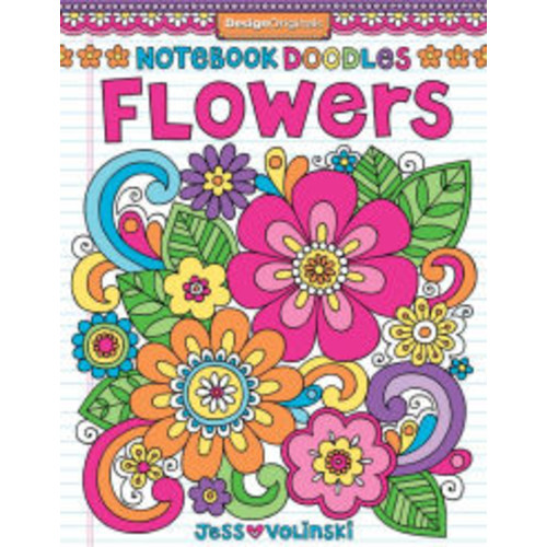 Notebook Doodles Flowers: Coloring & Activity Book