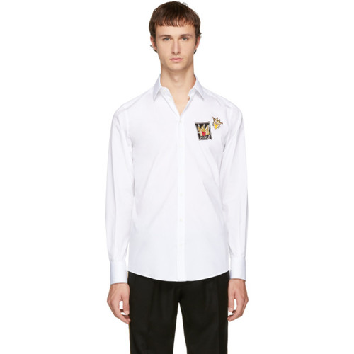 DOLCE & GABBANA White Patches Shirt
