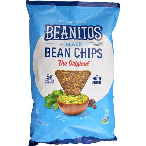 Beanitos Black Bean Tortilla Chips Gluten Free Original -- 10 oz