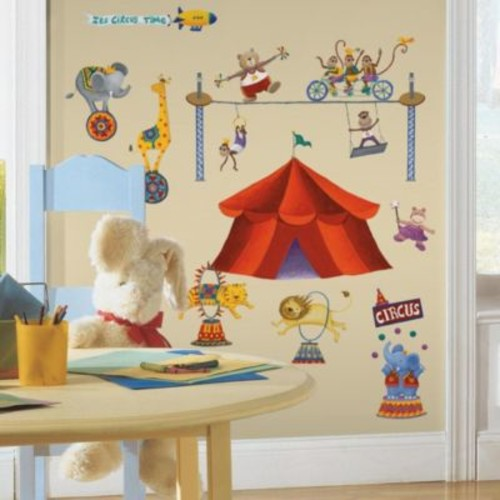 RoomMates Peel and Stick Wall Decals - Big Top Circus