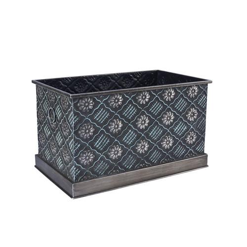 Chelsea Black/Silver Metal Large Storage Box