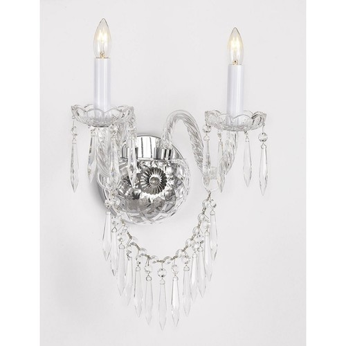 Murano Venetian Style Crystal Wall Sconce Lighting With Crystal Icicles