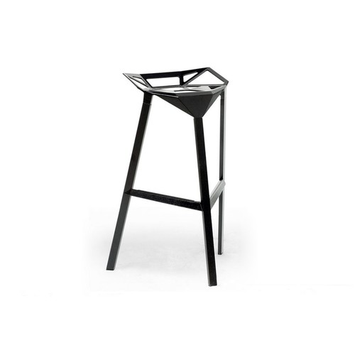 Baxton Studio Kaysa Black Aluminum Modern Bar Stool (Set of 2)