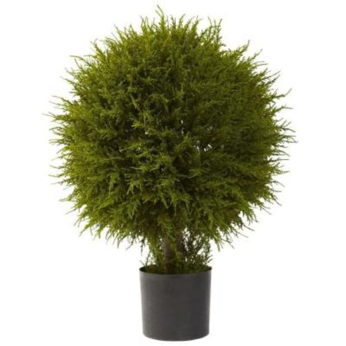 Nearly Natural 32 in. Cedar Ball Topiary