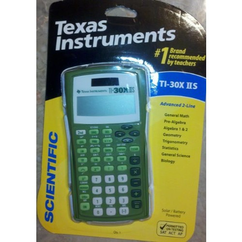 Texas Instruments TI-30X IIS 2-Line Scientific Calculator, Lime Green [Lime Green, 1]