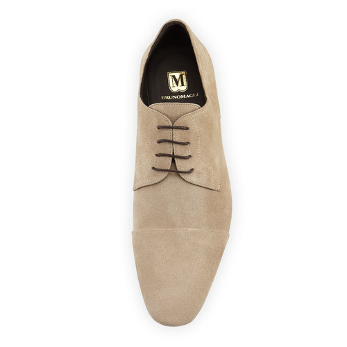 Bruno MagliMartico Suede Lace-Up Loafer, Taupe