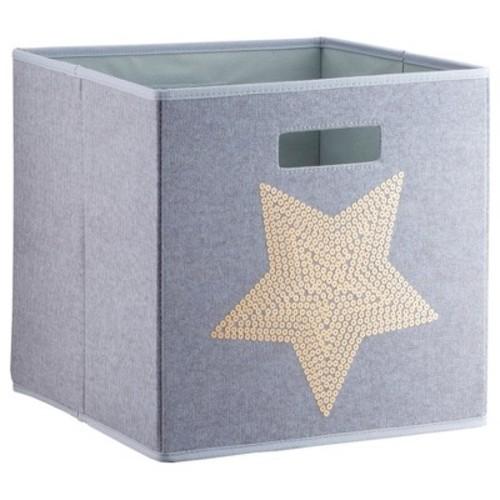 Stars KD Storage Bin Gray - Pillowfort