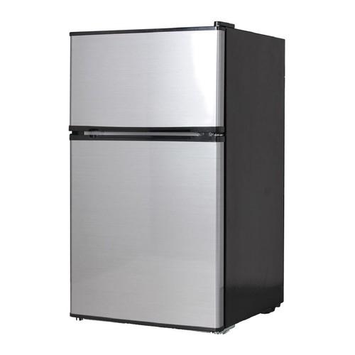 Midea 3.1 Cu. Ft. Compact Refrigerator \u0026 Freezer - Stainless