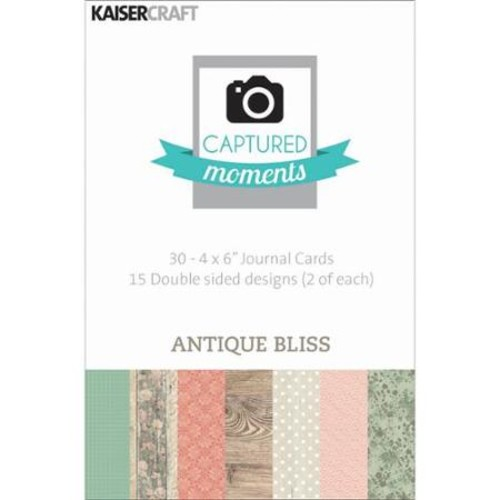 Kaisercraft Captured Moments Double-Sided Cards, 6 by 4-Inch, Antique Bliss ,30-Pack Multi-Colored