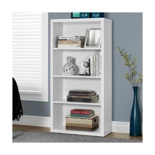 Monarch I 7059 Bookcase 48H / White with Adjustable Shelves